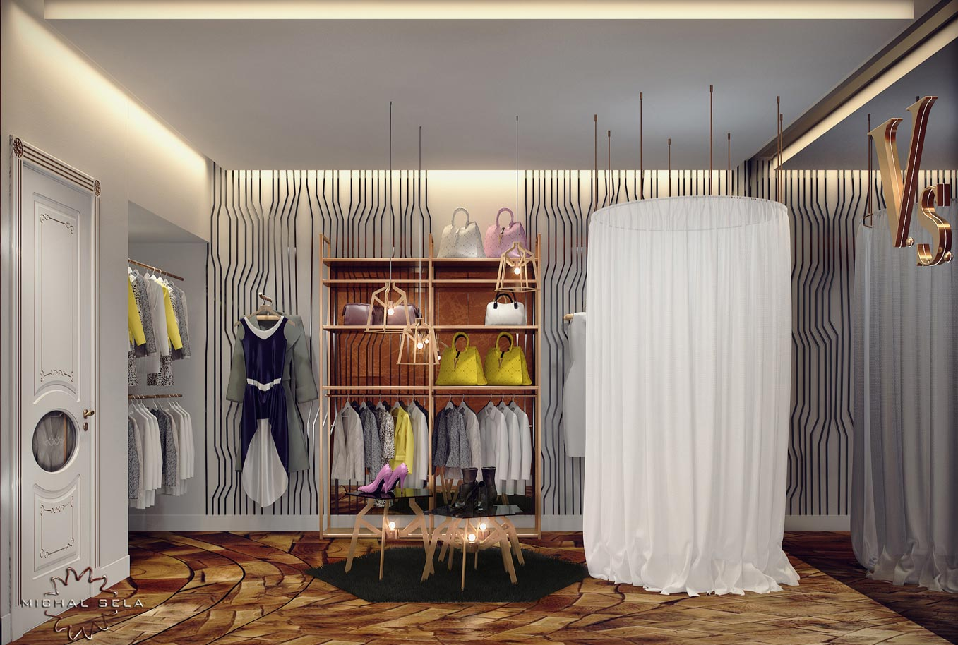 עיצוב חנות בגדים