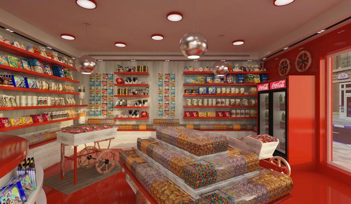 עיצוב פנים חנות ממתקים